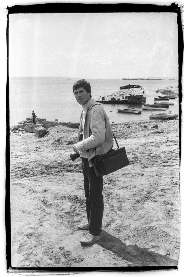 Петр Поспелов. Фото Андрея Титова. Нижний Услон, 1986